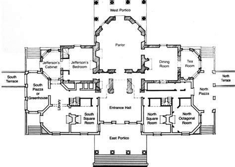 Monticello House Plans Rooms And Furnishings Jefferson S Monticello