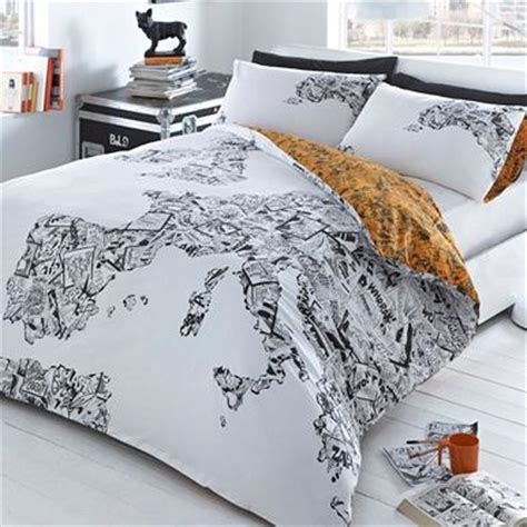 map comforter set white comic map bedding set debenhams com