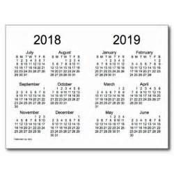 2018 And 2019 Calendar 2018 2019 School Year Mini Calendar By Janz Postcard
