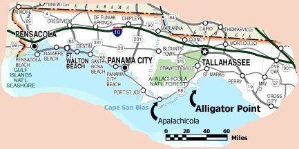 alligator point and map of florida