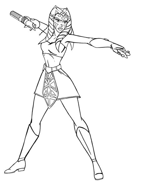 coloring pages ashoka ahsoka tano lineart by josephb222 on deviantart