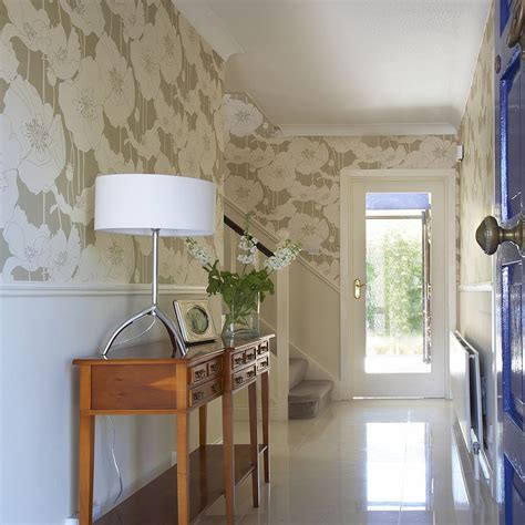 wallpaper design hallway 25 gorgeous entryways clad in wallpaper