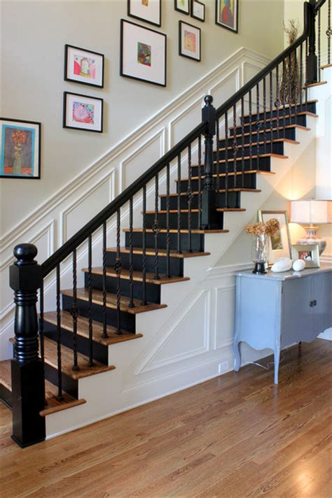 black staircase painted black risers traditional staircase other metro by stacy jacobi