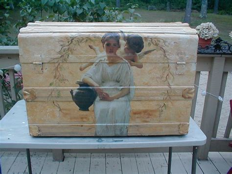 How To Decoupage A Dresser - how to decoupage furniture decopauge