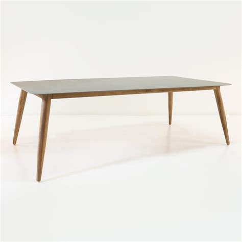 table edition edition aluminum and teak outdoor dining table 240cm