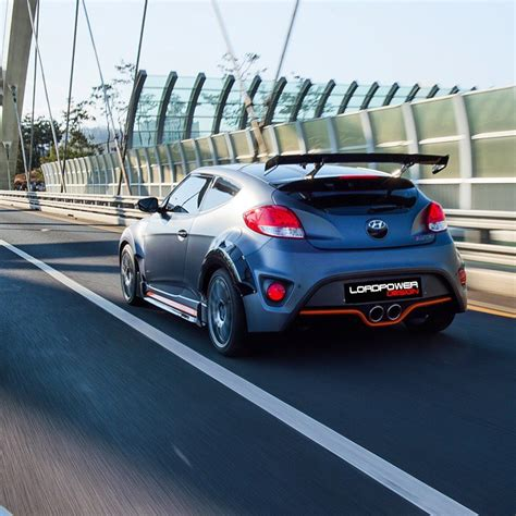hyundai veloster turbo upgrade lordpower design rear wing spoiler for hyundai veloster