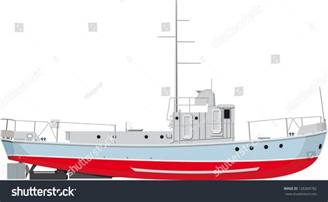 small fishing boat drawing small fishing boat side view detailed stock vector