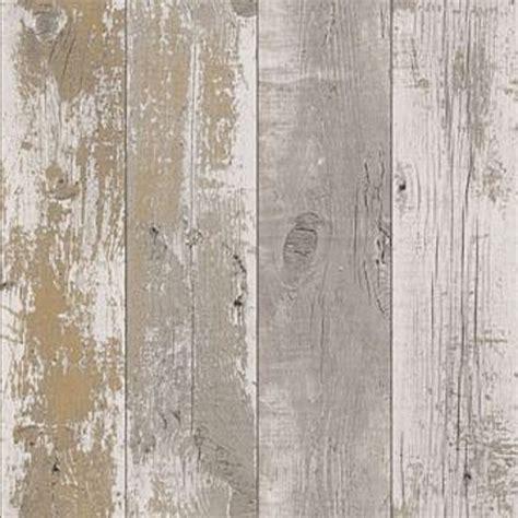 shabby chic design studio distressed woodgrain nautical dark neutral wallpaper 670511