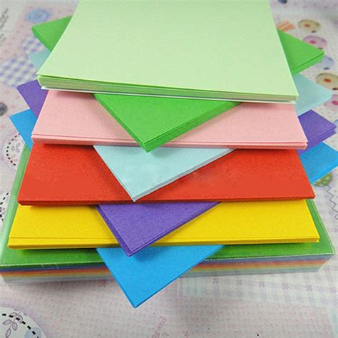 Craft With Coloured Paper - aliexpress buy 100pc 10cm origami square paper