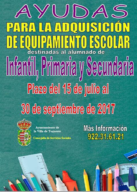 ayudas para libros y material escolar ayuntamiento de el ayuntamiento de tegueste destina 9 000 euros para