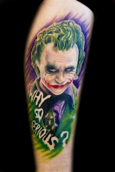 why tattoos why so serious joker on leg tattoos book 65 000