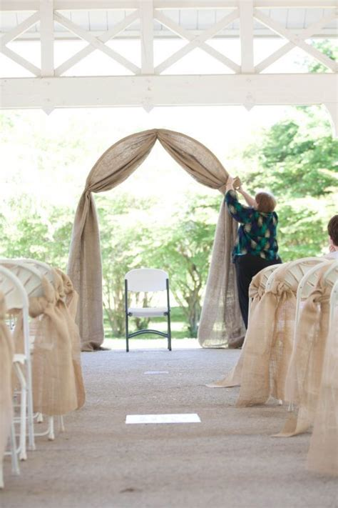 wedding arches decorated with burlap simple burlap arch and aisle country weddings pool noodles flower and