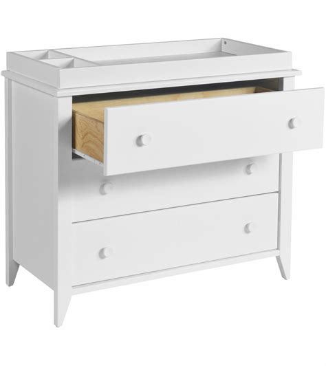 White Three Drawer Dresser by Babyletto Sprout 3 Drawer Changer Dresser Kd In White Finish