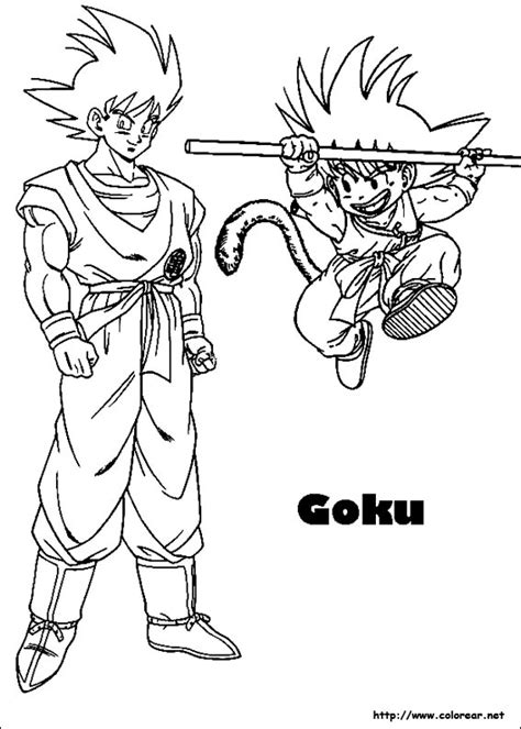 imagenes de goku sin color dibujos para colorear de dragon ball z