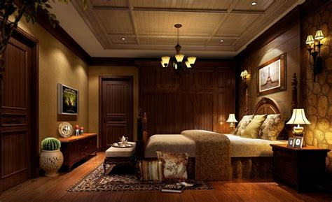 dark brown bedroom dark brown classic bedroom design rendering night