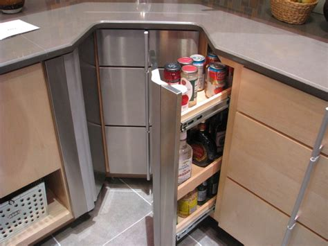 corner cabinet storage options contemporary kitchen