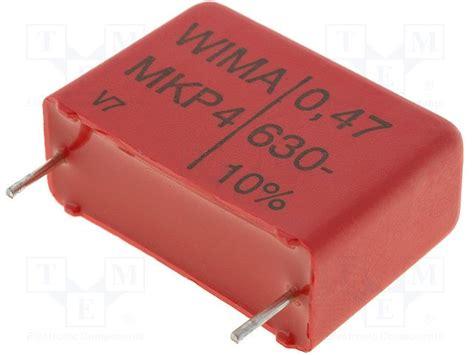 polypropylene capacitors wima mkp4j034705g00kssd wima capacitor polypropylene tme electronic components