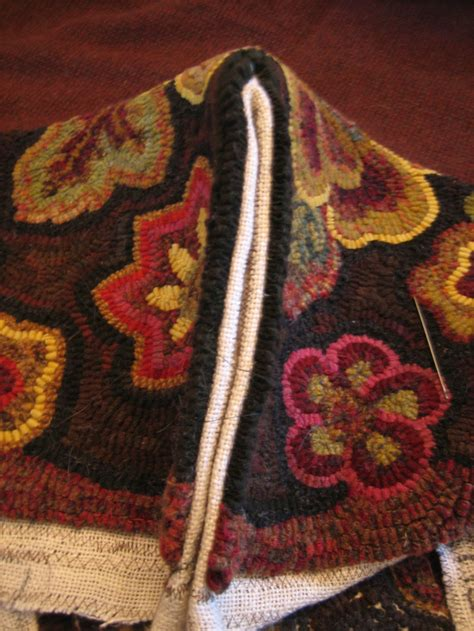 Sewing Rugs Together by Rug Hooked Footstool Sew The Side Seams Cindi Rug