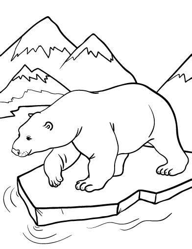 Printable Polar Bear Coloring Page Free Pdf Download At Polar Coloring Pages