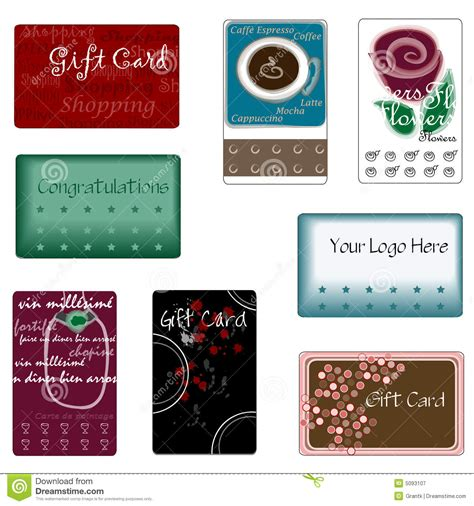 Assorted Gift Cards - assorted gift cards royalty free stock photography image 5093107