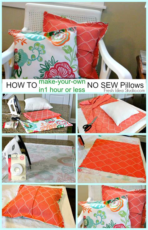 how to make a easy no sew pillow cover sew pillows