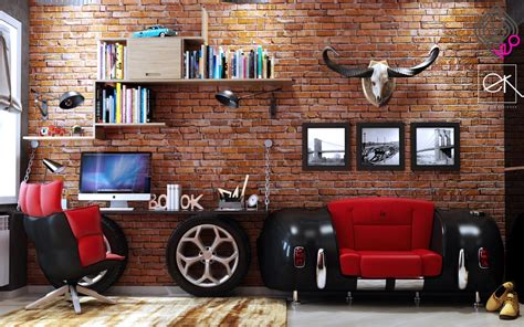 kids boys guest car lovers bedroom black and white dark themed kids rooms