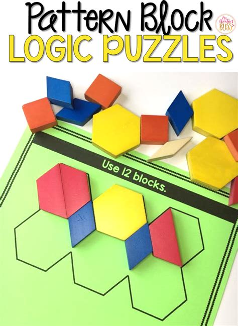 pattern block puzzles mrs winter s bliss pattern block logic puzzles