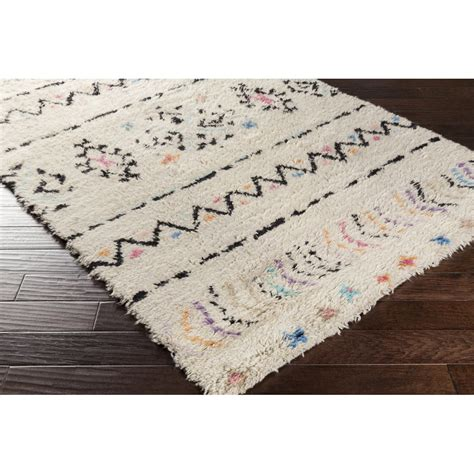 colorful shag rugs colorful tribal inspired shag rug shades of light