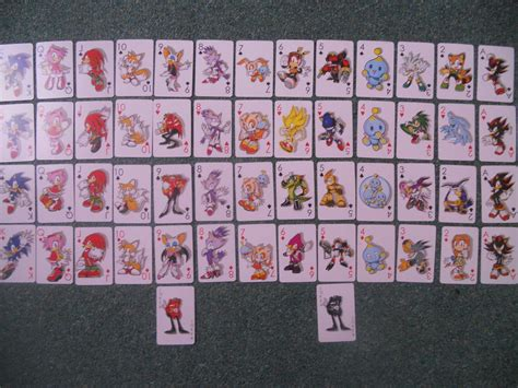 Where Can You Buy A Sonic Gift Card - sonic the hedgehog playing cards whole deck by boomsonic514 on deviantart