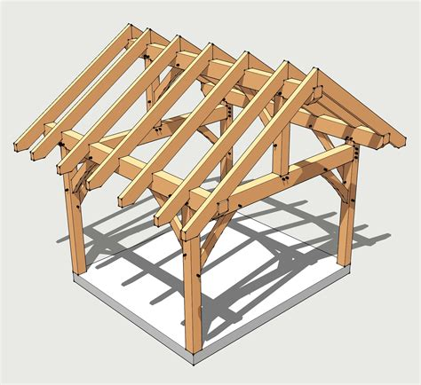 a frame roof 12x14 timber frame plan timber frame hq