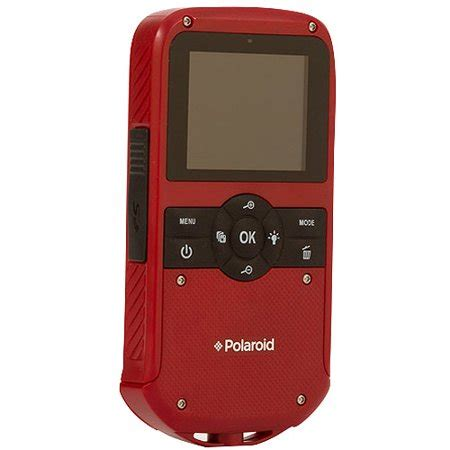 polaroid id610 hd water resistant pocket camcorder with 5x