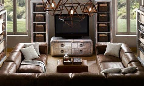 Restoration Hardware Sectional Sofas U Shaped Sectionals Large U Shaped Leather Sectional Restoration Hardware Living Room Home