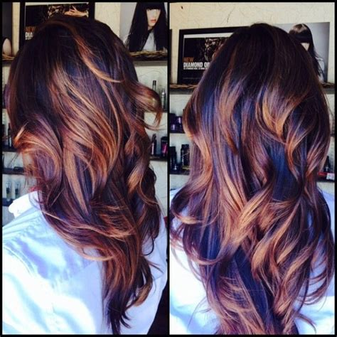 fall highlights for brown hair dark fall hair colors in 2016 amazing photo