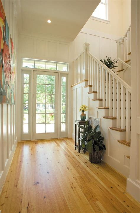 pumpkin pine flooring entry beach style with tongue groove