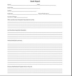 fourth grade book report template 6 grade book reports related keywords 6 grade book