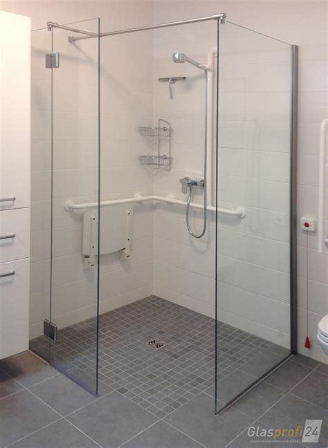 ebenerdige dusche bauen bodengleiche dusche glaswand olstuga