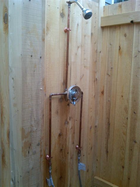 Plumbing For Shower Stall by Cape Cod Outdoor Shower Company Outdoor Shower