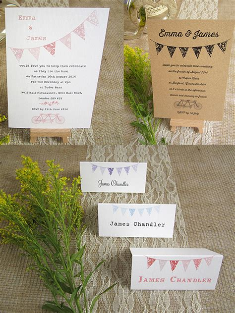 summer fete wedding invitations beautiful bunting summer fete wedding invitations