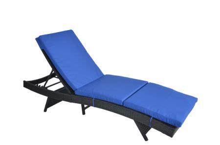 royal blue chaise lounge cushions shop for outime adjustable patio black woven rattan lounge