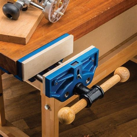 wood bench vice 9 quot quick release workbench vise rockler woodworking and