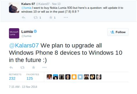 windows 10 win10 wp8 windows phone wp8 all lumia wp8 devices will get updated to windows 10