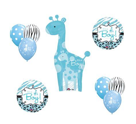 The Giraffe Gift Baby Blue safari it s a boy giraffe blue zebra balloon baby shower