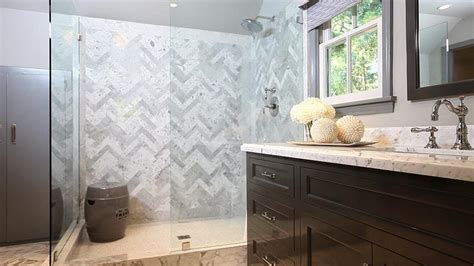 herringbone shower surround contemporary bathroom