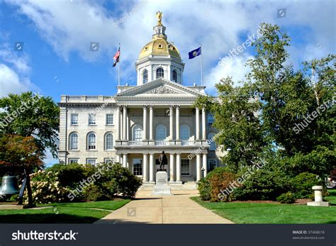 state house news new hshire state house capitol building stock photo