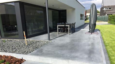 Beton Terrasse Versiegeln by Terrassen In Gepolierde Beton Aanleggen Bci Floors