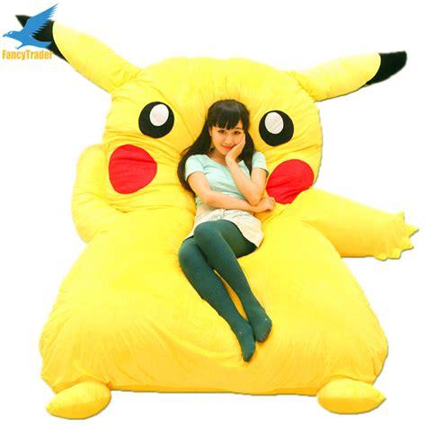 pikachu bed fancytrader huge giant filled pikachu bed carpet tatami
