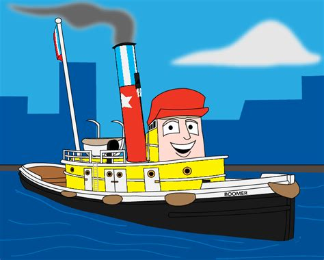 tugboat tv series boomer as a star tug by blockwave on deviantart