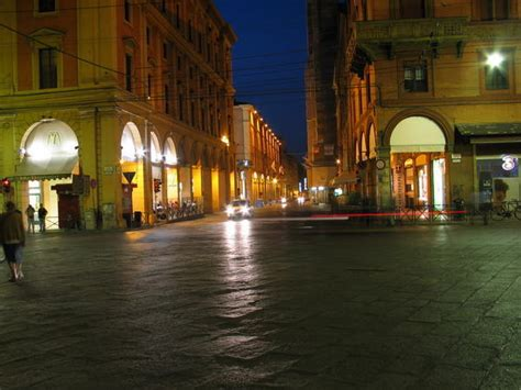 bologna streets  night photo