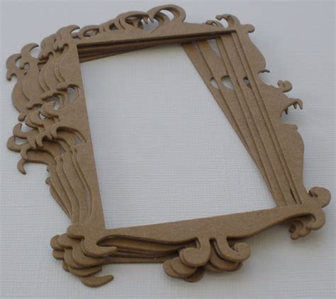 Frame Chipboard 6 decorative frame picture frames chipboard die cuts 3 5 quot x 5 quot ebay