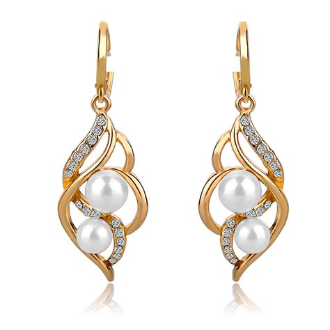 earrings for aliexpress buy 2015 fashion pearl earrings for vintage gold silver